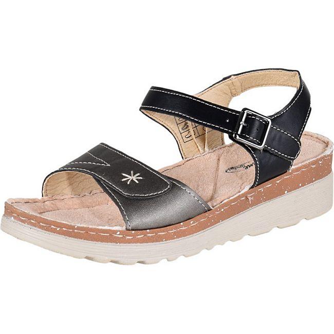 LISANNE COMFORT Damen Sandalette, Schwarz/Silber/39 /schwarz/silber - Bild 1