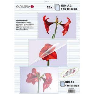OLYMPIA Laminierfolien DIN A2, 175 Mikron, 25 Stück - Bild 1