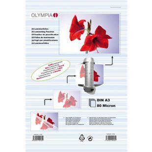 OLYMPIA Laminierfolie, DIN A3, 80 Mikron, 25 Stück - Bild 1
