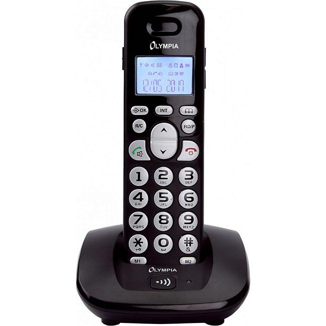 OLYMPIA  DECT 5000 Schnurloses ECO-Mode DECT Telefon, Schwarz - Bild 1
