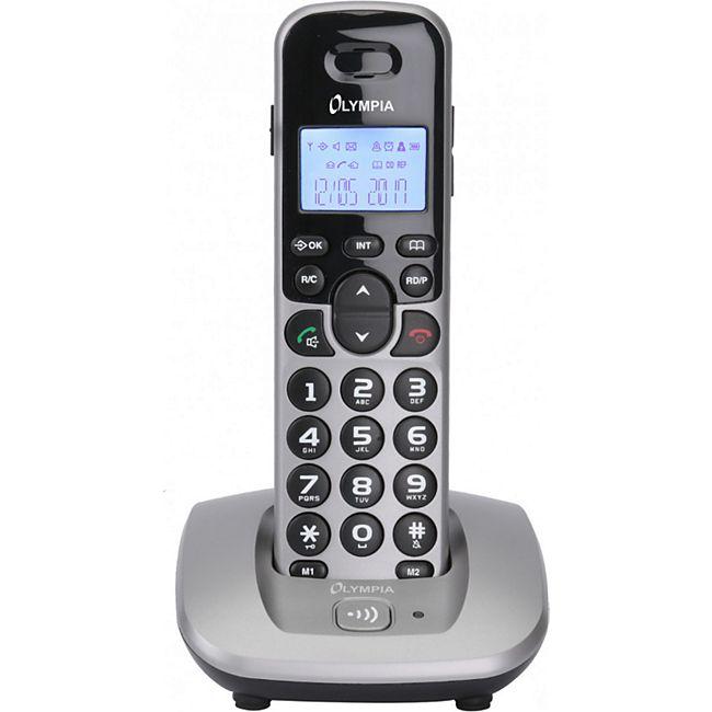 OLYMPIA DECT 5000 Schnurloses ECO-Mode DECT Telefon, Silber - Bild 1