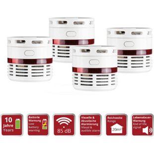 4 Stück OLYMPIA RM 10 Mini Rauchmelder, 10 Jahres Batterie, 85 db - Bild 1