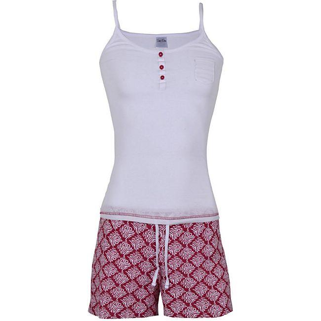 Damen Sommer Pyjama 100% Baumwolle/xs /weiß - Bild 1