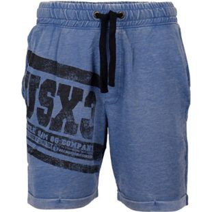 UNCLE SAM Herren Sweatshort, verschiedene Styles im Vintagelook, M, TRUE BLUE BURN OUT - Bild 1