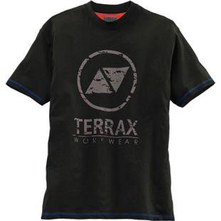 TERRAX WORKWEAR Herren T-Shirt, S, Schwarz/Royal - Bild 1