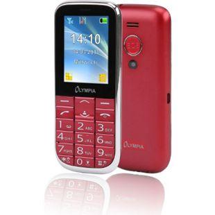 OLYMPIA Joy II Seniorenhandy, Rot, große Tasten, Hörgerätekompatibel - Bild 1