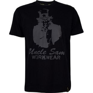 UNCLE SAM Herren T-Shirt, S, Anthrazit/ Schwarz - Bild 1