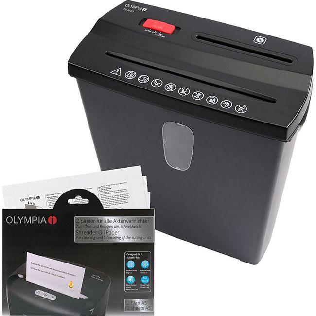 OLYMPIA PS 38 CD Aktenvernichter im SET mit Ölpapier für Papier, CDs und Kreditkarten - Bild 1