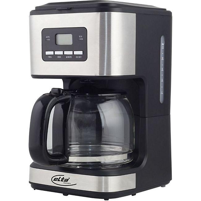 ELTA Kaffeemaschine Timer- und Preset-Funktion, 1,5 l, 900 W, Schwarz/ Edelstahl - Bild 1