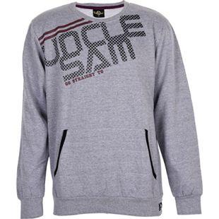 UNCLE SAM Herren Sweatshirt mit Kängurutasche, M, Grey Melange - Bild 1