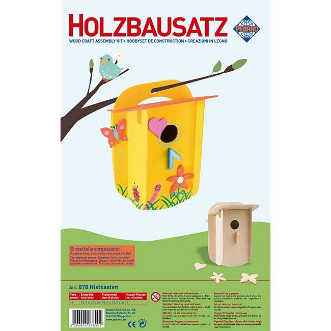 PEBARO Holzbausatz Nistkasten, Vogelhaus - Bild 1