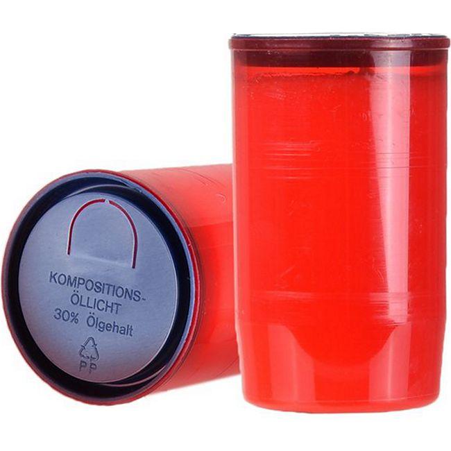 1 Stück ST. JAKOB'S Nr.3 Premium Grablichter, Kompositions Öl-Lichter, Rot - Bild 1