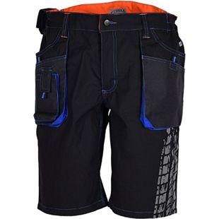 TERRAX WORKWEAR Herren Shorts, 54, Schwarz, Royal, Orange - Bild 1