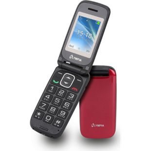 OLYMPIA Classic Mini II Senioren Mobiltelefon, große Tasten, Rot - Bild 1