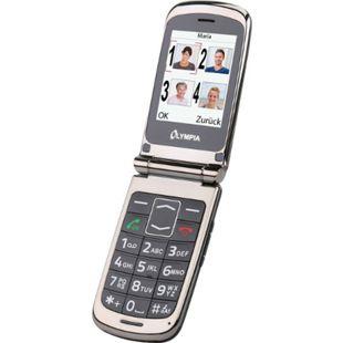 OLYMPIA Style View Senioren Mobiltelefon, große Tasten und Farbdisplay, Schwarz - Bild 1