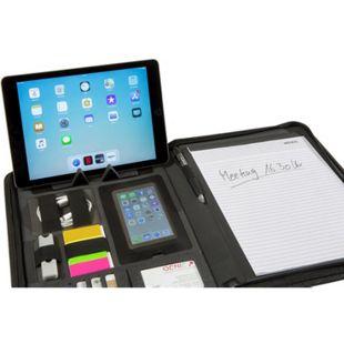 GENIE München A4 Schreibmappe mit Tabletfach Handyfach Konferenzmappe Aktenmappe - Bild 1