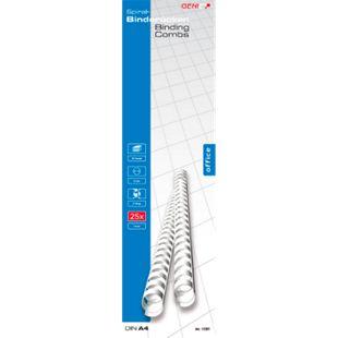GENIE Spiralbinderücken, 25 Stk., 12 mm, weiß, DIN A4 Format - Bild 1