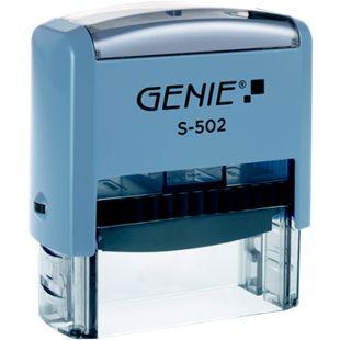 GENIE S-502 Selbstfärbender Stempel Set mit bis zu 5 Zeilen - Bild 1