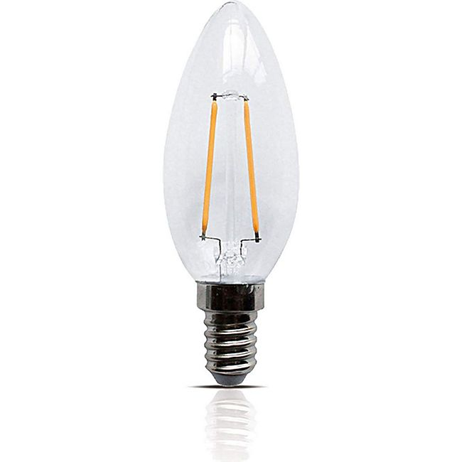 LED Filament Leuchte Kerze E14 2W 200 Lumen Lampe Glühfaden Innenbereich - Bild 1