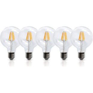 5 Stück LED Filament Leuchte E27 6W 600 Lumen Lampe Glühfaden Innenbereich - Bild 1