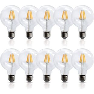 10 Stück LED Birnen Filament Leuchte E27 6 Watt 600 Lumen  Lampe Glühfaden - Bild 1