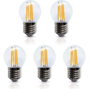 5 Stück LED Filament Leuchte Kugel E27 4W 400 Lumen  Lampe Glühfaden - Bild 1