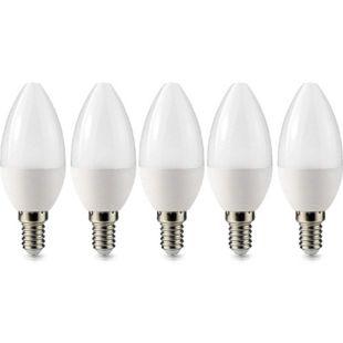 5 Stück LED Kerze Leuchtmittel Glühbirne E14 3W 240 Lumen warmweiß Lampe Licht - Bild 1
