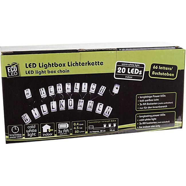 ECO LED Lichterkette LED Lightbox 20er individuell beschriftbar 60 Buchstaben - Bild 1