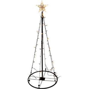 LEX Deko LED Lichterbaum, 180cm, für Innen und Außen, 106 LEDs mit 8 Funktionen - Bild 1