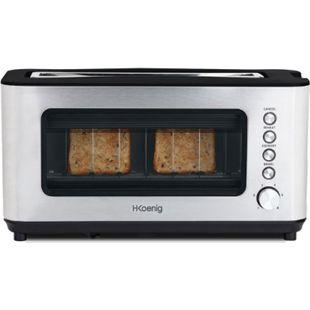 HKoenig Vision Toaster mit Sichtfenster, 1200W - Bild 1