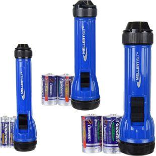 3er Set Taschenlampe Krypton spritzwassergeschützt MELLERT TL 3000 mit Batterien - Bild 1