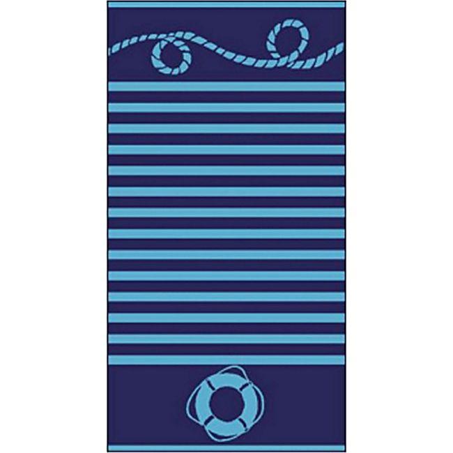LEX Strandtücher Handtücher Bahia, ST1003, Blau gestreift - Bild 1