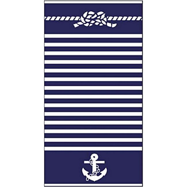 LEX Strandtücher Handtücher Bahia, ST1003, Blau-Weiß gestreift - Bild 1