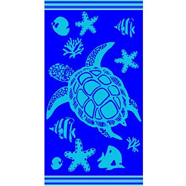 LEX Saunatuch Handtuch, ST1012, Blau - Bild 1