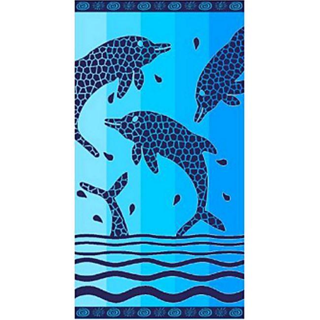 LEX Saunatuch Handtuch, ST1014, Blau - Bild 1
