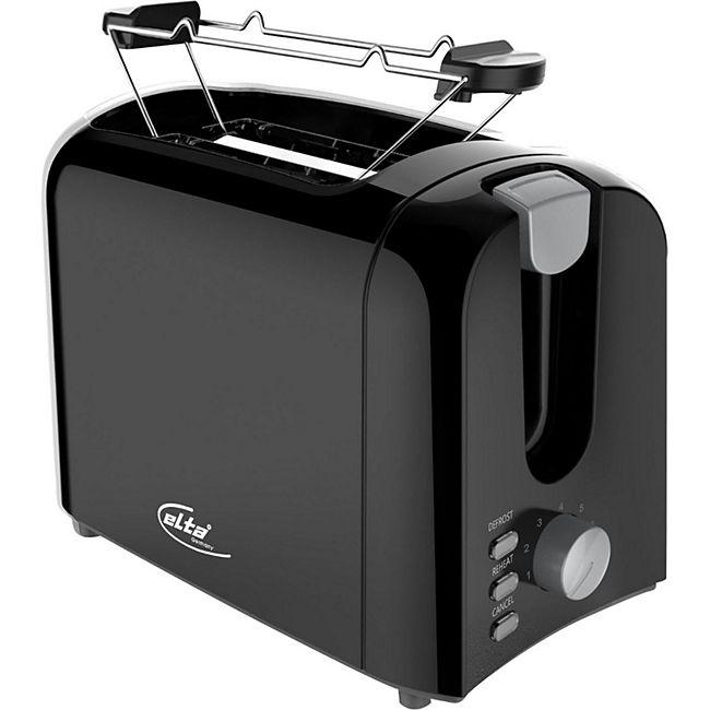 ELTA Cool Touch 2-Scheiben Toaster 700 W Schwarz - Bild 1