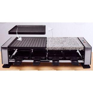 Raclettegrill mit heißem Stein mit Granit-Grillplatte 1400 Watt 8 Personen - Bild 1
