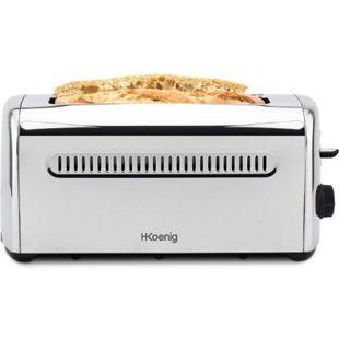 HKoenig TOS32 4-Scheiben Edelstahl Toaster 1500 W - Bild 1