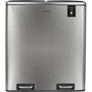 LES COLLECTORS N°904 Mülleimer Küche -Recycling Behälter 60L 2x30L Edelstahl 66cm - Bild 1