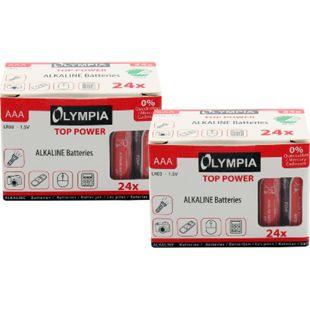 48 Stück Top Power Alkaline Batterien Typ AAA - Bild 1