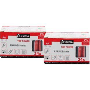 48 Stück Top Power Alkaline Batterien Typ AA - Bild 1