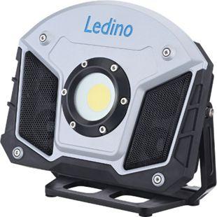 Ledino LED-Akkustrahler Horn 15W mit Bluetooth-Lautsprechern, Powerbankfunktion - Bild 1