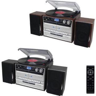 Soundmaster MCD5550 Hifi-Anlage mit Plattenspieler, CD, Bluetooth, DAB+, SD Farbe: Schwarz - Bild 1
