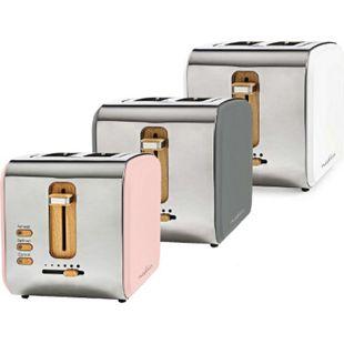 Nedis Toaster Soft-Touch u. Edelstahl mit zwei breiten Öffnungen, versch. Farben Farbe: Grau - Bild 1