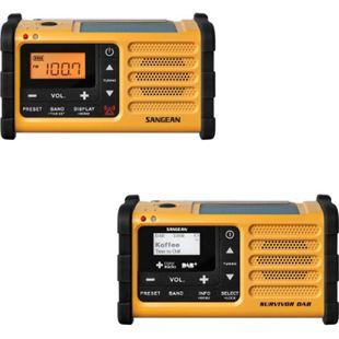 Sangean MMR-88 UKW/MW/Handkurbel/Solar mit/ohne DAB+ Farbe: gelb, Größe: ohne DAB+ - Bild 1