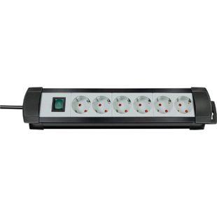Brennenstuhl Premium-Line Steckdosenleiste 6-fach schwarz/lichtgrau 5m Zuleitung - Bild 1