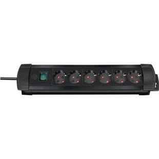 Brennenstuhl Premium-Line Steckdosenleiste 6-fach 3m Zuleitung, versch. Farben Farbe: Schwarz - Bild 1