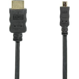 Purelink High Speed Micro HDMI-Kabel m. Ethernet Kanal, schwarz, versch. Längen Länge: 1 m - Bild 1