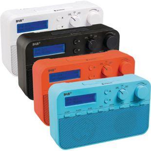 Koenig DAB+ Radio mit 20 einstellbaren Sendern und Alarmfunktion, versch. Farben Farbe: Weiß - Bild 1