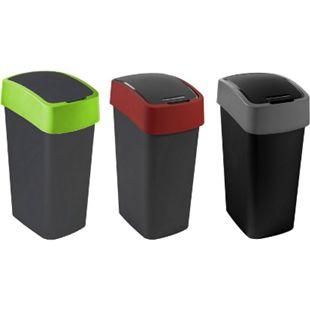 Curver Flip Bin 50L, verschiedene Farben Farbe: Schwarz / rot - Bild 1